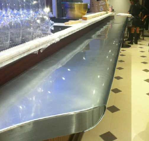 Zinc bars and worktops in London